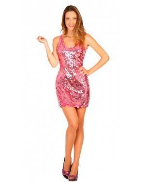 Costume Disco Rosa XL per Carnevale