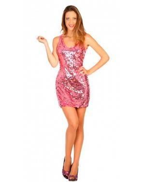 Costume Disco Rosa XS/S per Carnevale