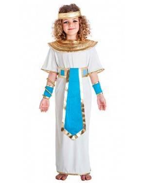 Costume Egiziana Blu Taglia 1-2 Anni per Carnevale
