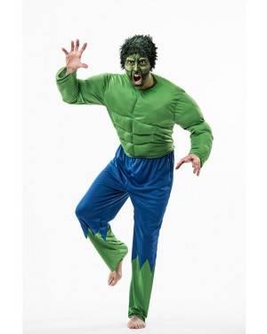 Costume Forzuto Verde Adulto Taglia M/L per Carnevale | La Casa di Carnevale