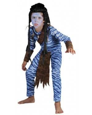 Costume Guerriero-Avatar Bambino Taglia 4-12 per Carnevale