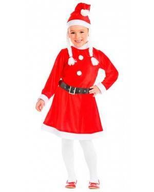 Costume Mamma Natale con Trecce Tg. 1-2 Anni
