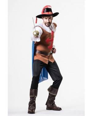 Costume Moschettiere Adulto Taglia M/L per Carnevale | La Casa di Carnevale
