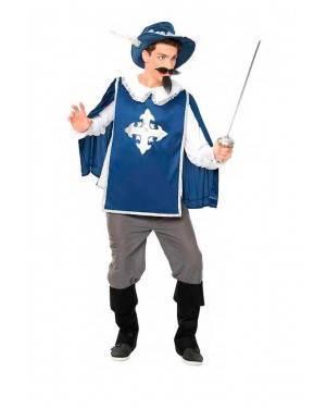 Costume Moschettiere Azzurro Taglia S per Carnevale