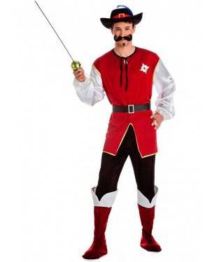 Costume Moschettiere Luxe Taglia M-L per Carnevale