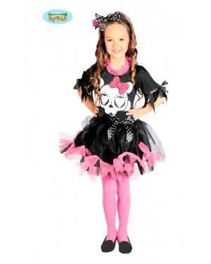 Costume Teschietto Rosa Bambina per Carnevale
