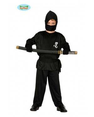 Costume Ninja Nero Bambino per Carnevale
