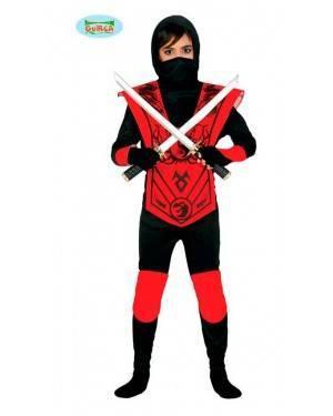 Costume Ninja Rosso Bambino per Carnevale