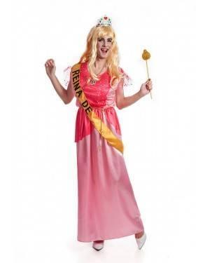 Costume Principessa Rosa Uomo Taglia M/L per Carnevale | La Casa di Carnevale
