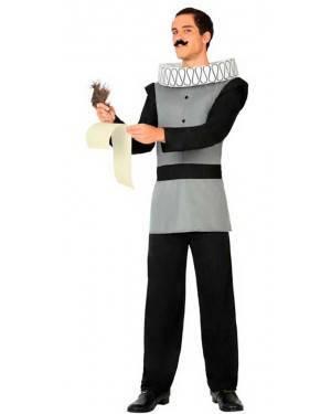 Costume Scrittore Cervantes Adulto M/L per Carnevale