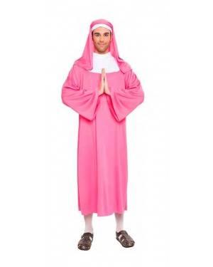 Costume Suora Rosa Taglia M-L per Carnevale