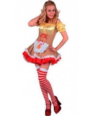 Costume Bambola Oro Adulto Tg. Unica