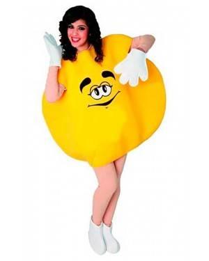 Costume Bonbon Giallo. Adulti Tg. Unica