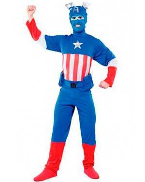Costume Captain Azzurro. Tg. Unica