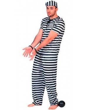 Costumi Carcerato Adulto per Carnevale