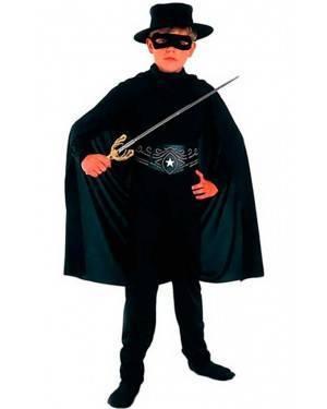 Costume Cavalieri Nero Bambino Tg. 4 a 12 Anni