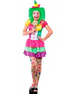 Costume Clown Sexy. Tg. Unica.