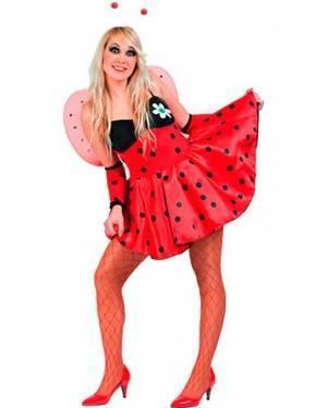 Costume Coccinella Sexy Adulto Tg. Unica