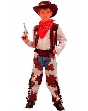 Costume Cowboy Bambino Tg. 7 a 12 Anni
