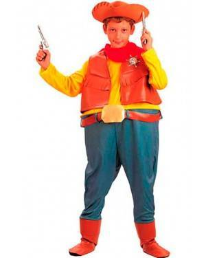 Costume Cowboy-Sheriff Bambino Tg. 7 a 12 Anni