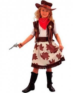 Costume Cowgirl Bambina Tg. 7 a 12 Anni