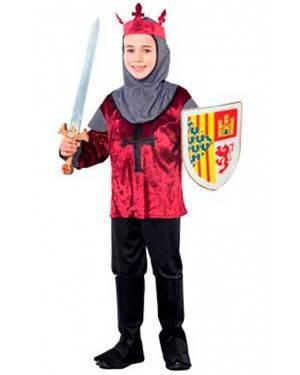 Costume Crociato Medieval. Tg. 7 a 12 Anni