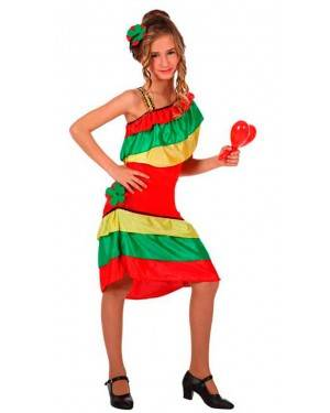 Costume Ballerina da Rumba Multicolore