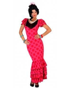 Costume Ballerina di Flamenco Spagnola Rosa