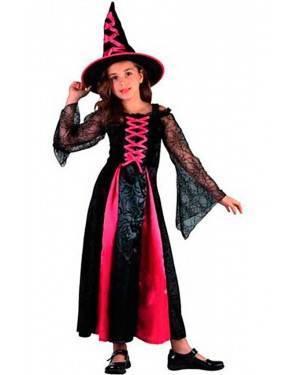 Costume Strega Rosa. Bambina Tg. 4 a 12 Anni