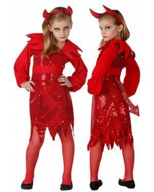 Costume Demone Disco Bambina