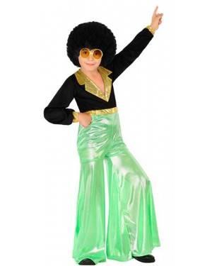 Costume Disco Verde Bambino