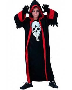 Costume Dracula con Cappuccio Bambino. Tg. 7 a 12 Anni
