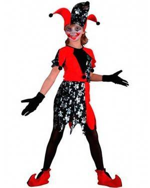 Costume GiullareBambina Tg. 4 a 12 Anni
