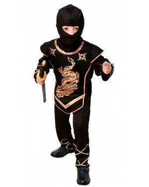 Costume Guerriero Ninja Bambino Tg. 4 a 9 Anni