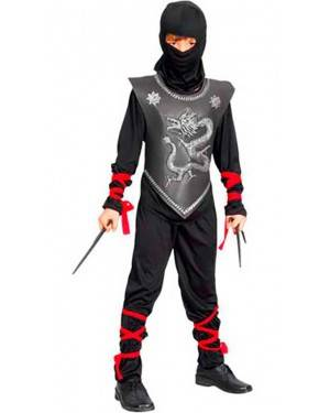 Costumi Guerriero Ninja Bambino Taglia 4 a12 per Carnevale