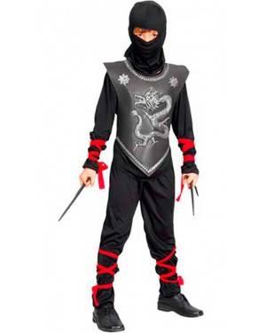 Costume Guerriero Ninja. Bambino Tg. 4 A12 Anni
