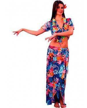 Costume Hawaiana-Hawaii Adulto Tg. Unica