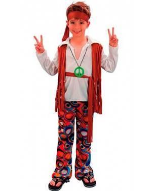 Costume Hippie Bambino Tg. 4 a 12 Anni