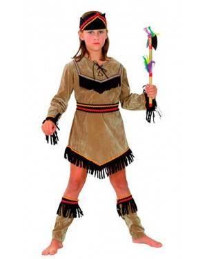 Costumi Indiana Bambina Taglia 4-12 anni per Carnevale