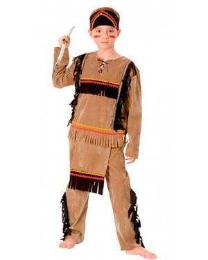 Costumi Indiano Bambino Taglia 4-12 anni per Carnevale