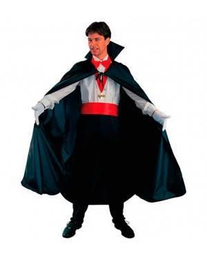 Costumi Mantello Vampiro Nero Halloween per Carnevale