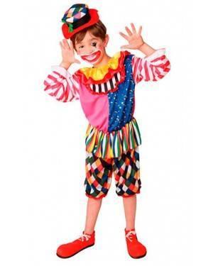Costume Pagliaccio-Clown Bambino Tg. 4 a 9 Anni