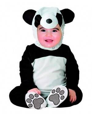 Costumi Panda Taglia Neonati per Carnevale