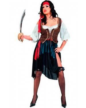 Costume Pirata Corsaro Donna. Adulto