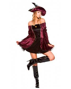 Costume Pirata Deluxe Donna Adulto Tg. Unica
