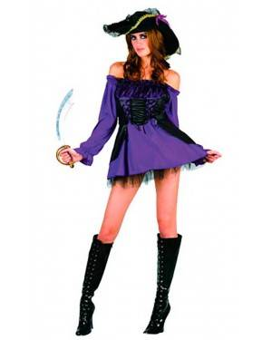 Costume Pirata Viola Donna Adulto Tg. Unica