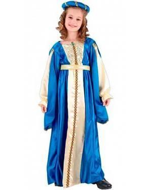 Costume Principessa Azzurro Bambina Tg. 4-12 Anni