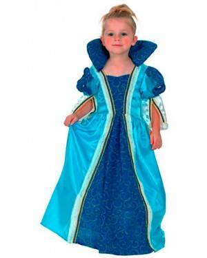 Costume Principessa Azzurro Tg. 2-4 Anni