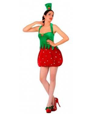 Costumi Ragazza Fragola Taglia M/L per Carnevale