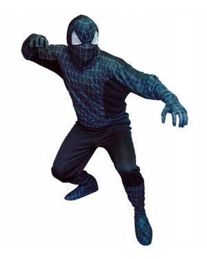 Costume Spider Eroe-Ragno Nero Adulto Tg. Unica